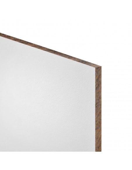 Biała płyta budowlana i wykończeniowa o wielkości 120cm x 90cm x 0.6cm