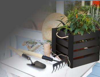 Schowek na narzędzia i meble ogrodowe